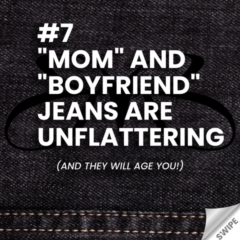 heels and jeans rule - mom and boyfriend jeans are unflattering - Roberto Ruivo
