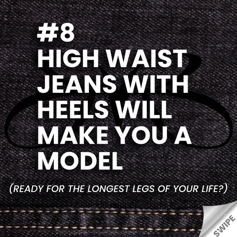 jeans and heels rule - High waist jeans with heels will make you a model - Roberto Ruivo