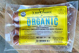 Beef Hot Dogs - Skinless - Organic - B Bar Ranch