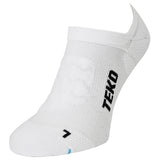 2x Teko No-Show Running & Fitness Socks - 2 Pair Pack - White - Size Small Only - CLEARANCE