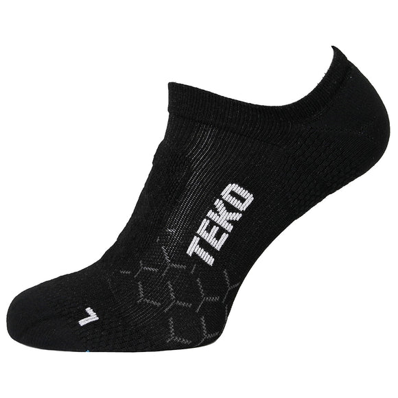 TEKO No Show - Running & Fitness Socks - 2 Pair Pack