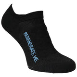 Teko No-Show Running & Fitness Socks - 2 Pack Pair - Black