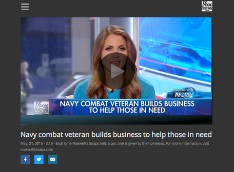 FOX NEWS: Navy Combat Veteran Builds Business To Help Those