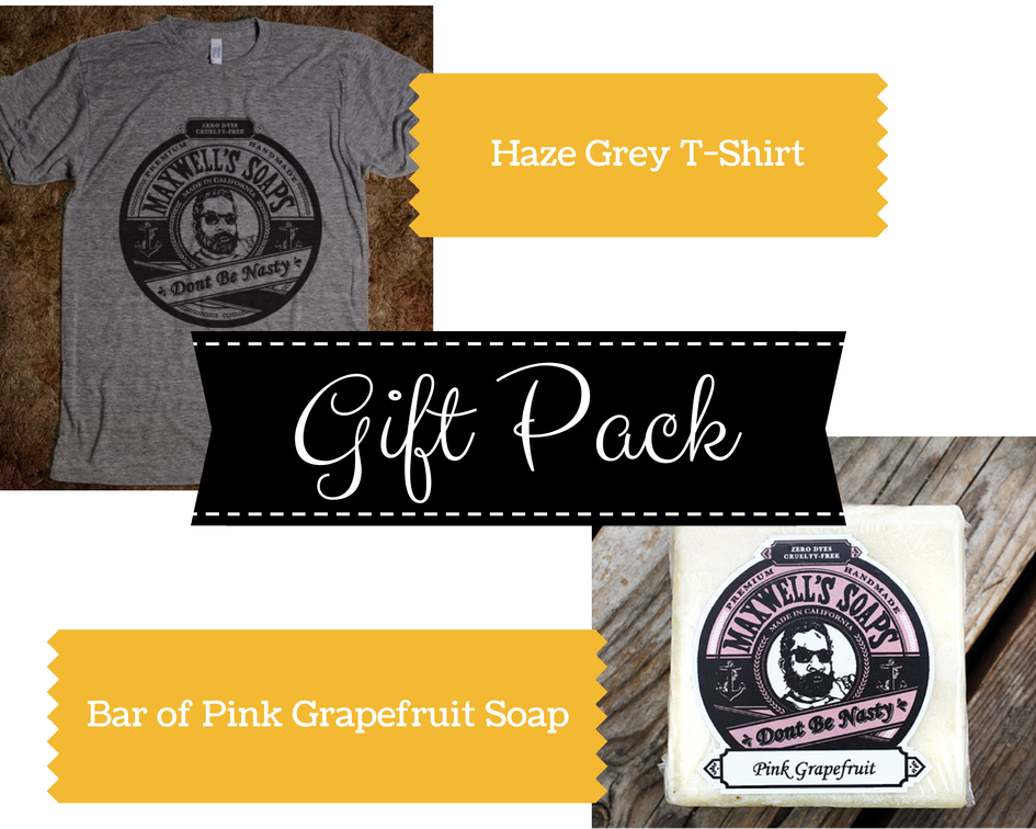 Gift Pack - T-shirt and Pink Grapefruit soap