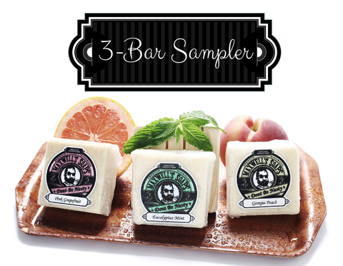 Sampler Pack: ALL 3 Soaps (SALE - Buy 2, Get 3!)