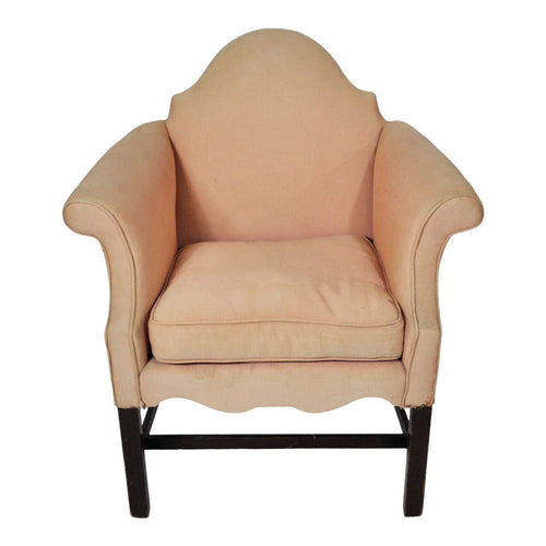 Vintage French Art Deco Small Bergere Chair