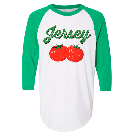 Jersey Tomatoes Baseball T-shirt [ Fried Green ]
