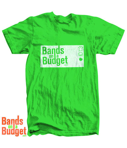 Bands on a Budget Canvas T-Shirt - Heather Green