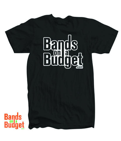 Bands on a Budget Canvas T-Shirt - Black