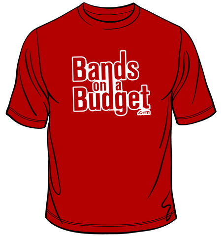 Bands on a Budget Snowflake T-Shirt - Red