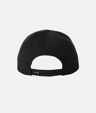 ASBURY HILLS CREST 6 PANEL HAT BLACK