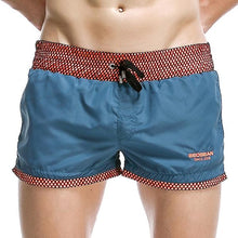 Load image into Gallery viewer, Men Beach Quick Dry Swim Short Breathable Loose Patchwork Swim Trunks Beach Shorts with Embroidered