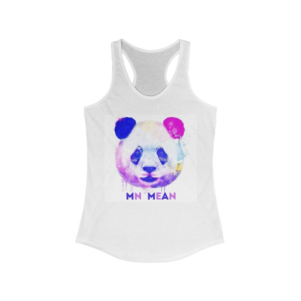 Women's Ideal Racerback Tank - Purple Panda-Tank Top-MN Mean Merch