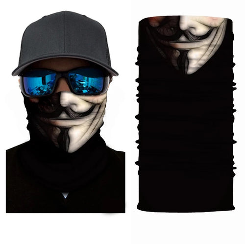 Neck Gaiter/Face Mask - Guy Fawkes-Accessories-MN Mean Merch