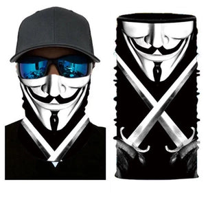 Neck Gaiter/Face Mask - Vendetta w/Swords-Accessories-MN Mean Merch