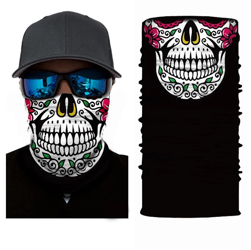 Neck Gaiter/Face Mask - Candy Skull-Accessories-MN Mean Merch
