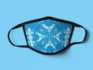 Cotton Double-Layer Face Cover | Washable, Reusable & Reversible - Blue-MN Mean Merch