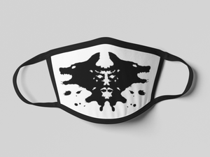 Cotton Double-Layer Face Cover | Washable, Reusable & Reversible - Rorschach-MN Mean Merch