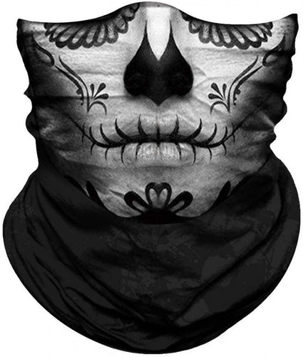 Neck Gaiter/Face Mask - Dia de Muertos-Accessories-MN Mean Merch