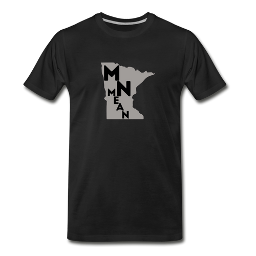Men's Organic Cotton Graphic T-Shirt - MN Mean-Men's Premium Organic T-Shirt-MN Mean Merch