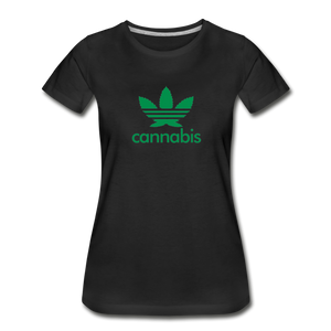 Women's Organic Cotton Graphic T-Shirt - Leaf-Women's Premium Organic T-Shirt-MN Mean Merch