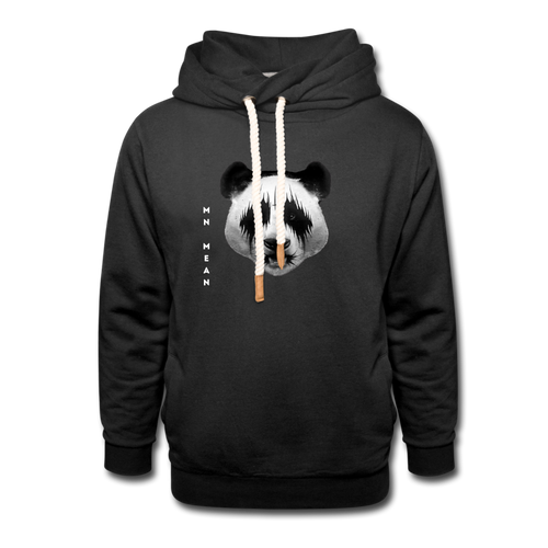Shawl Collar Hoodie - Mean Panda-Unisex Shawl Collar Hoodie-MN Mean Merch