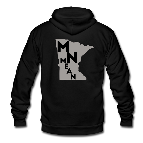 Unisex Fleece Zip Hoodie - MN Mean-Unisex Fleece Zip Hoodie-MN Mean Merch