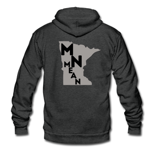 American Apparel Fleece Zip Hoodie - MN Mean-Unisex Fleece Zip Hoodie-MN Mean Merch