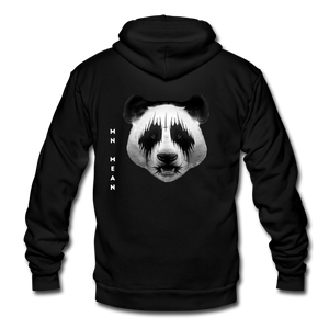 Unisex Fleece Zip Hoodie - Mean Panda-Unisex Fleece Zip Hoodie-MN Mean Merch