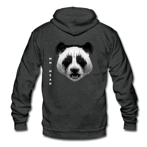 American Apparel Zip Hoodie - Mean Panda-Unisex Fleece Zip Hoodie-MN Mean Merch