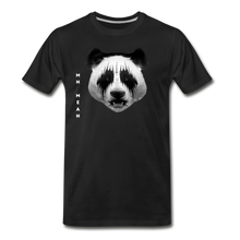 Load image into Gallery viewer, Men's Organic Cotton Graphic T-Shirt - Mean Panda-Men's Premium Organic T-Shirt-MN Mean Merch
