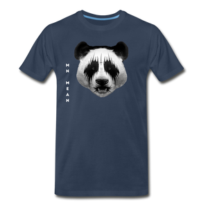 Men's Organic Cotton Graphic T-Shirt - Mean Panda-Men's Premium Organic T-Shirt-MN Mean Merch