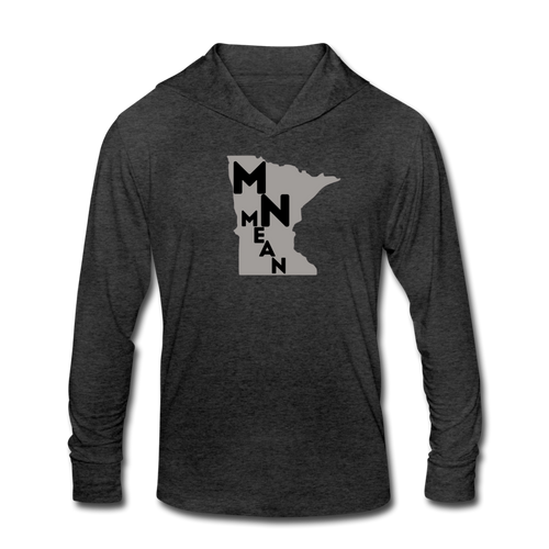 Unisex Tri-Blend Hoodie Shirt - MN Mean-Unisex Tri-Blend Hoodie Shirt-MN Mean Merch