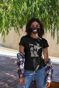 Cotton Double-Layer Face Cover | Washable, Reusable & Reversible - Lips-MN Mean Merch