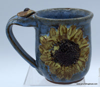 Sunflower Mug Teal Blue