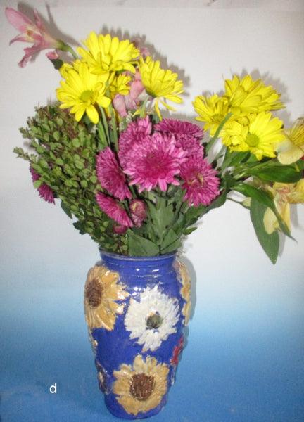 Cobalt Blue Flowers Everywhere Vase
