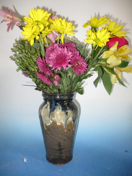 Three Tone Brown Vase
