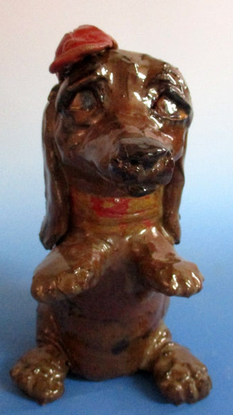 Dapper Dachshund Sculpture