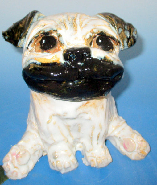 Perky Pug Sculpture