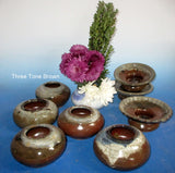Ikebana Three Tone Browns Flared