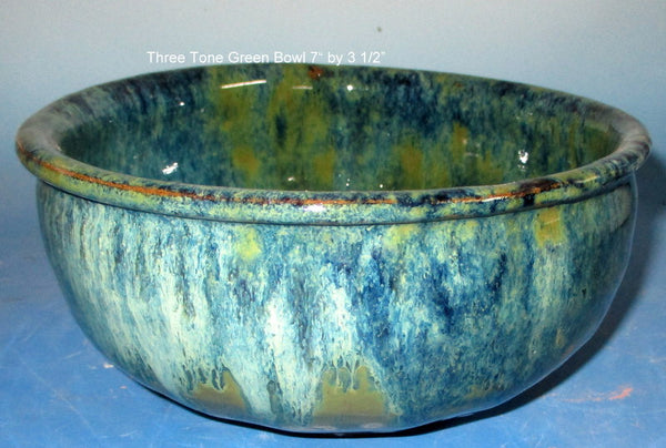 Green Three Tone Serving Bowl