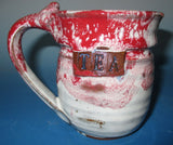 Tea Mug Red over White