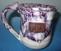 Tea Mug Teal Purple over White
