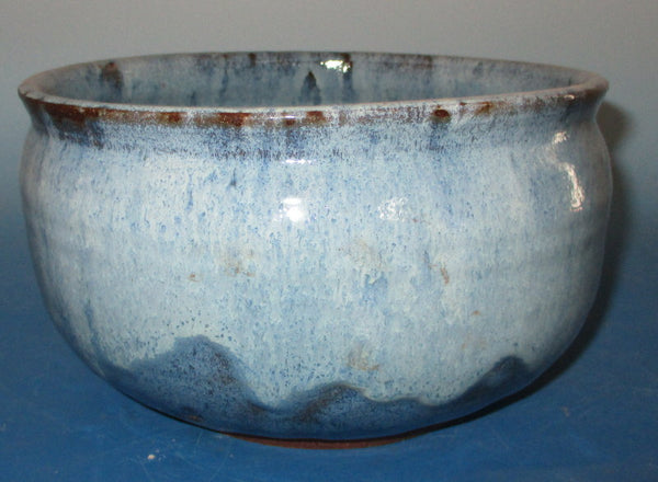 Teal Blue over Cream Bowl