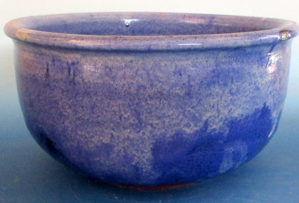 Cobalt Blue dipped in White Large Serving Bowl