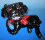 Black Lab  Sculpture with Balls