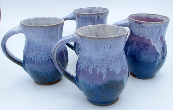 Large Mug Purple over Teal Blue