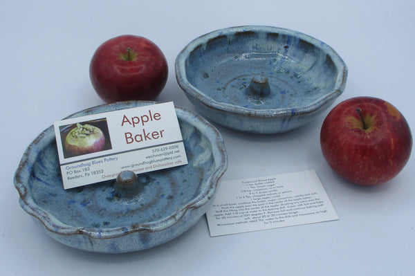 Apple Baker with instructions Three tone Teal