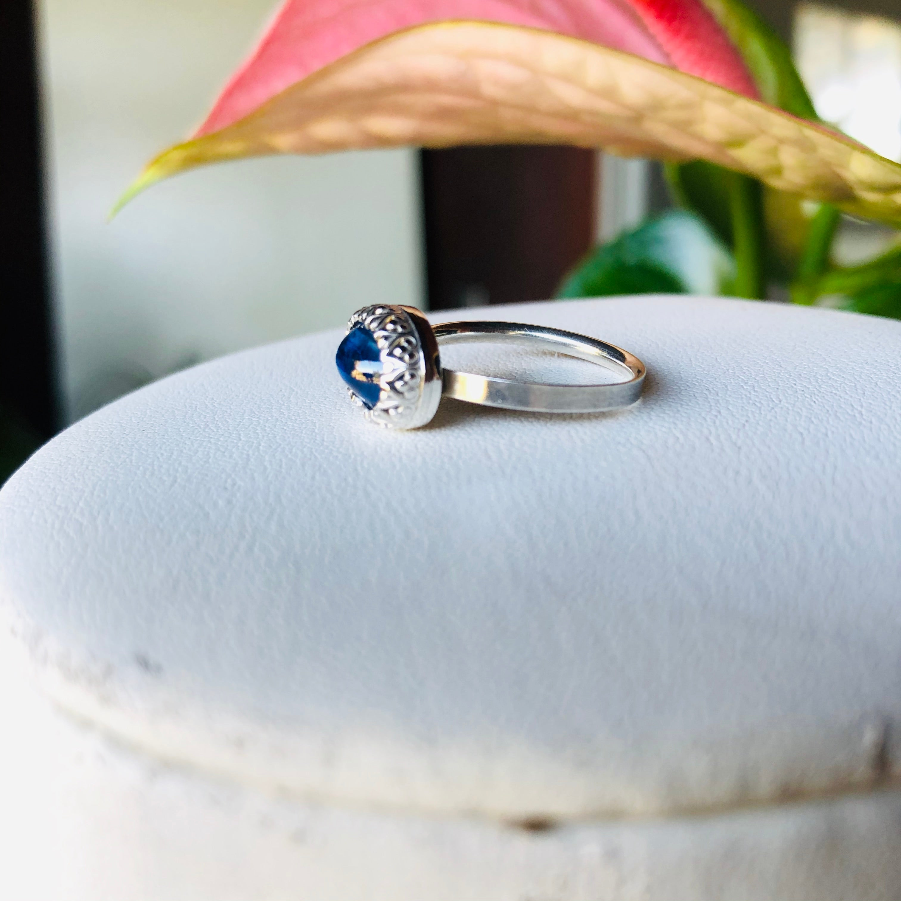 Lace ring in kyanite-serena kojimoto studio