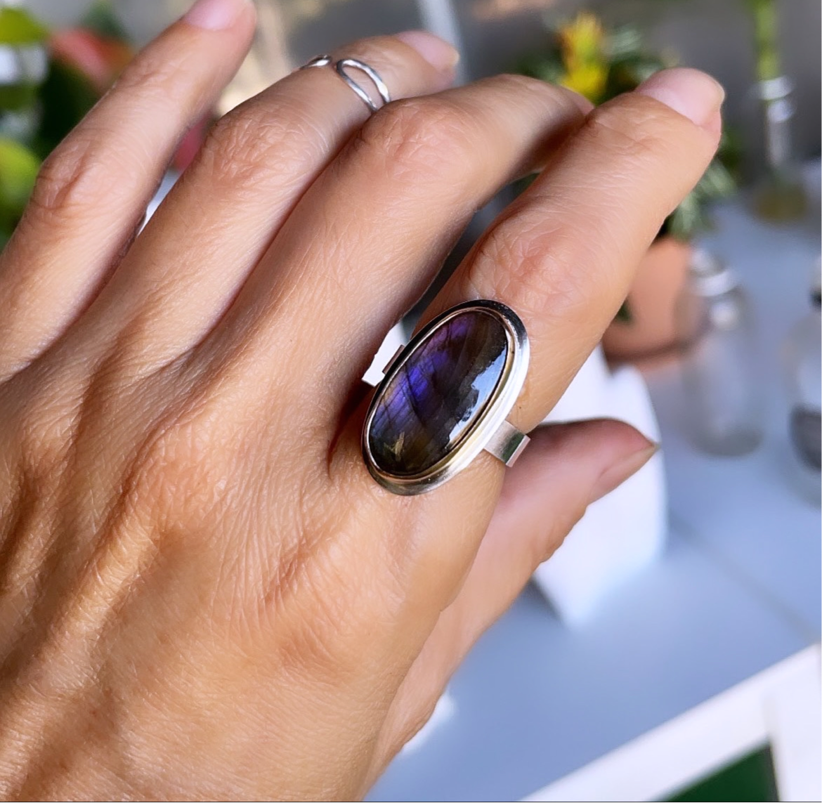 Royal Purple Labradorite Ring-serena kojimoto studio
